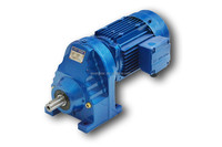 RX series helical electric gearmotor parallel shaft single-stage compact