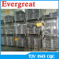 Foldable Heavy Duty Metal Wire Boxes