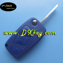 Superior quality 2 button smart key holder for car key shell fiat for