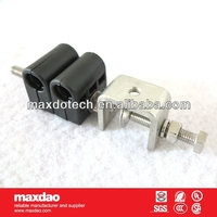single type 2 way of coaxial cable feeder clamp