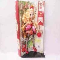 oem fashion Barbie doll with red dress pvc toy