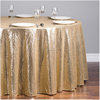 sequin embroidery organza table overlays for round table cloth