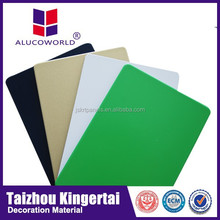 Alucoworld PVDF aluminium composite panels, outdoor use wall cladding, marble finish white wood wall paneling
