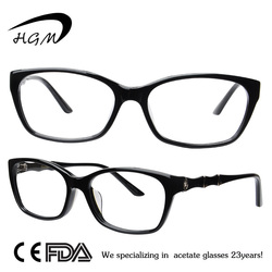 Fashion Design Eyewear Frame With Glass Frame With Clear Lens Glasses