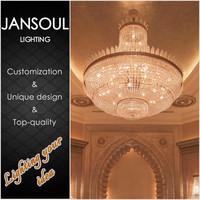 2015 european style vintage crystal chandelier decoration hotel lobby glass pendant light fixture edison