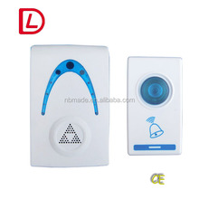 battery or plug-in wireless remote digital doorbell