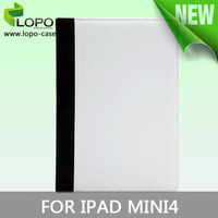 top grade hot selling Sublimation leather case /heat press filp cover for iPad mini 4