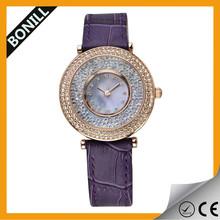 diamond Alloy simple fashion leather watch 2015,elegance watch for men