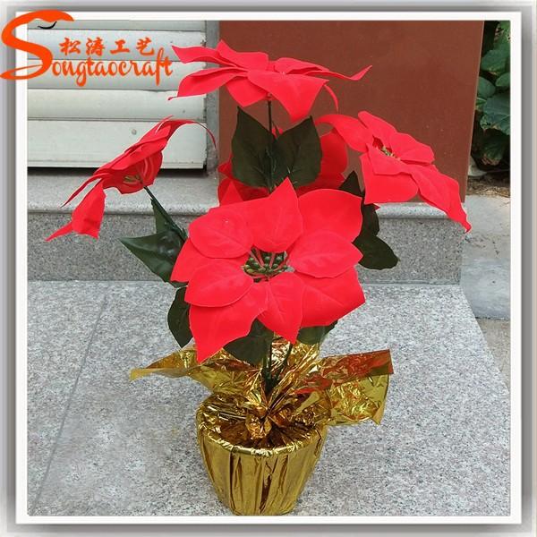 Chrismas decoraci n de la navidad adornos de flores - Adornos navidad por mayor ...