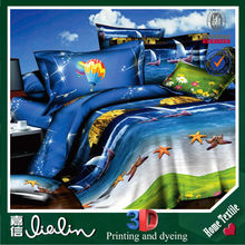 jiangsu luxury home textile 3d sea design high good quality cheap low price bedsheets