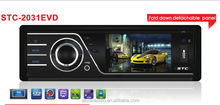 Detachable 3 inch TFT car audio with bluetooth / tv STC-2031