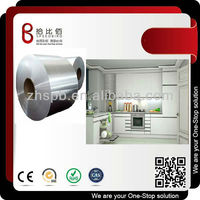 Pvc laminated coated stainless steel for kitchen cabinet