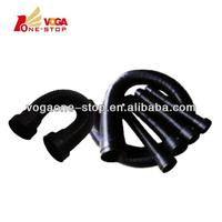 Bent air intake flexible rubber pipe/ hose for atlas copco air compressor parts 1613954200