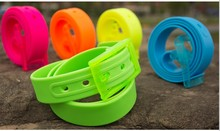 2014 Italy Branded Fashion Plastic Silicone Rubber Belts with Low Price