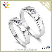 A Pair Price Classical 18K Gold Plated Diamond Couple Rings,925 Sterling Silver Wedding Couple Ring