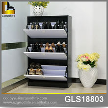 bedroom white and black finish double shoe cabinet usa on sale