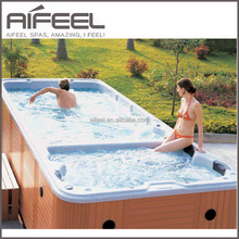 Balboa system acrylic rectangular above ground freestanding outdoor massage swimming pool for sale