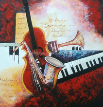 Newest design abstract art paintings on canvas by handpainted