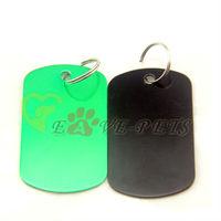 V1084 Fashion Design Aluminum Material Rectangle Shape 3*5CM Cat Pet Dog Tag Drop Shipping Factory Produce Wholesale Price