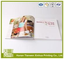 Bright-coloured menu book design