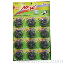 Stainless steel Scourers 12gr/pic,12pcs/ paper card(For the first time)
