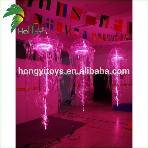 Colgando de helio de medusas, led de luz de medusas, decoraciones del partido con las medusas inflable