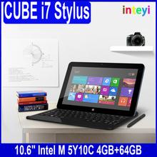 CUBE 10.6 inch i7 Stylus 1920*1080 Win 8.1 Tablet PC Core-M 64GB Rom 4GB RAM Dual Core Bluetooth