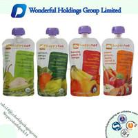 High Quality Baby Juice Spout Pouch / Reusable Food Spout Pouch