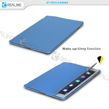 top pu folio leather case for ipad 2,sleep and wake up function,trendy colors for option