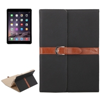 OEM Service Bussiness Style Leather for iPad Air 2 Tablet Case with Holder and Buckle