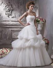 Noble Sweetheart Strapless Brush Train Beading Applique Elie Saab Wedding Dresses For Sale