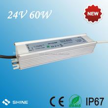 2.5A 24v 60W waterproof LED power supplier