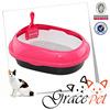 Cute Looking Plastic Cat Toilet Enclosed Cat Litter Box