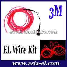 HOT!!!HOT!!! High bright 2.3/3.2mm party neon wire for clothes/ car/ bike