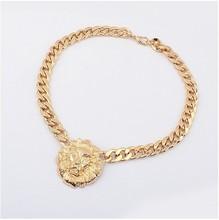 Top Quality Lion Head Choker Vintage Pendant Statement Necklace Women Necklaces & Pendants Fashion Necklaces for Women 201