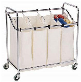 mesh triple bac de rangement panier linge maille plier le linge panier sac panier linge. Black Bedroom Furniture Sets. Home Design Ideas