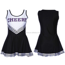 HIGH SCHOOL CHEER GIRLS UNIFORM CHEERLEADER COSTUME OUTFIT W/POM POMS BWG-2847