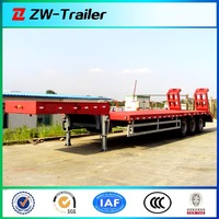 3-axle tyre exposed 50tons lowboy loader semi truck trailer for sale