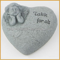 polyresin angel figurines with heart
