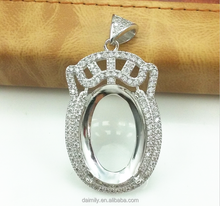 fashion jewelry diamond pendent for indonesia zircon stone pendent