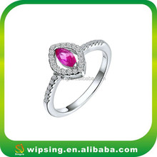 Fashion Women 925 Sterling Silver Ruby Ring