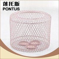 Modern design indoor decoration colorful pink candle holder wrought iron candlestick