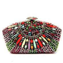 China Wholesale Box Clutch Bag Crystal Evening bag Women Party bag (S08216)