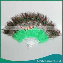 hermosa danza del vientre fans pluma verde