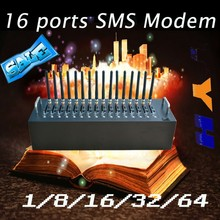 16 port gsm modem pool AT command support STK mobile recharge function SMS modem