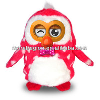 2014 Cute Mimicry Pet toy Copy Voice Pet Talking Plush Toy Gift for Kids - Red