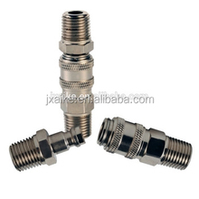 Mini type single handed and semiautomatic air hose fittings with brass
