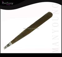 staniless steel tweezer with black color/black coat tweezer