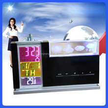 LED weather calendar christmas gift clock