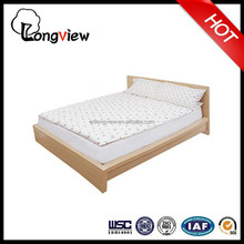 Alibaba express Stable and soft wood design simple bed,cheapest knocked down queen size wooden bed in hotel